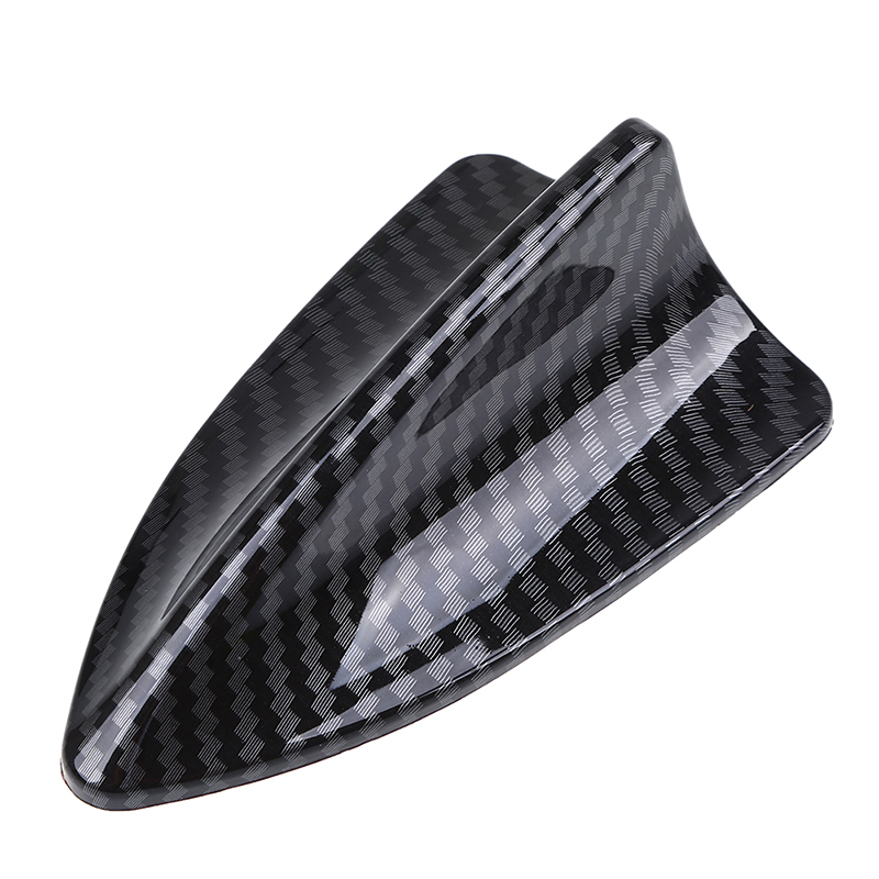 POSSBAY Car Shark Fin Antenna Roof Shark Aerial Imitation Carbon Fiber Decorative Antennas for Polo Chevrolet Toyota Car Styling