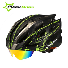 2017 RockBros MTB Road Cycling Helmet Men/Women 32 Air Vents Goggles Bicycle Bike Helmet With 3 Pair Of Lens Casco Ciclismo