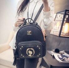 Корейский стиль осенью новый collectuon рюкзак женщины вышивка с даймонд моды опрятный стиль дорожная сумка книги мешок