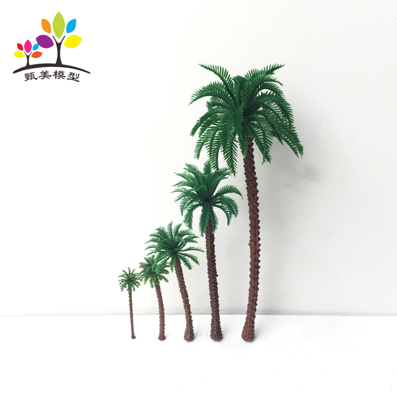 15 PCS 5 Sizes Model Palm Trees Architectural Plastic Model Coconut Tree Scenery HO Scale DIY Train Layout Model Trees