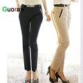 {Guoran} Office ladies work trousers elegant women plus size black khaki business pencil pants female high quality outwear
