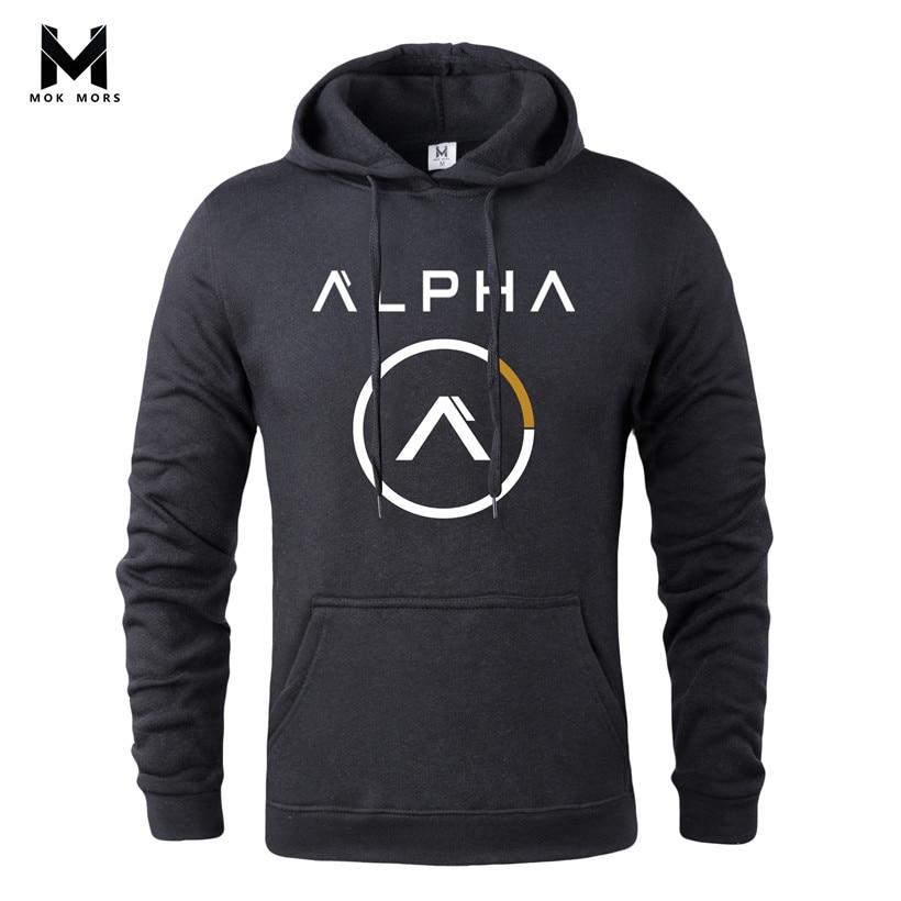 Hoodie Fashion Clothing Jacket Sweatshirt Mens Long-Sleeve Print Casual MOK MORS New