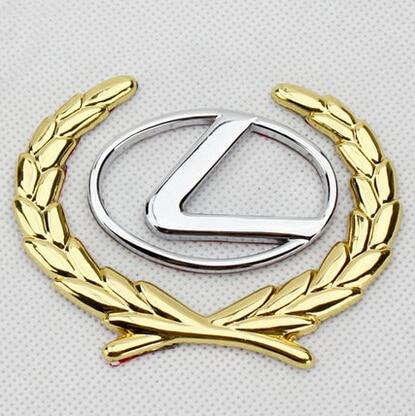 Auto Car 3d For Lexus Luxury Car 3d Gold Wheat Side Mark Emblem