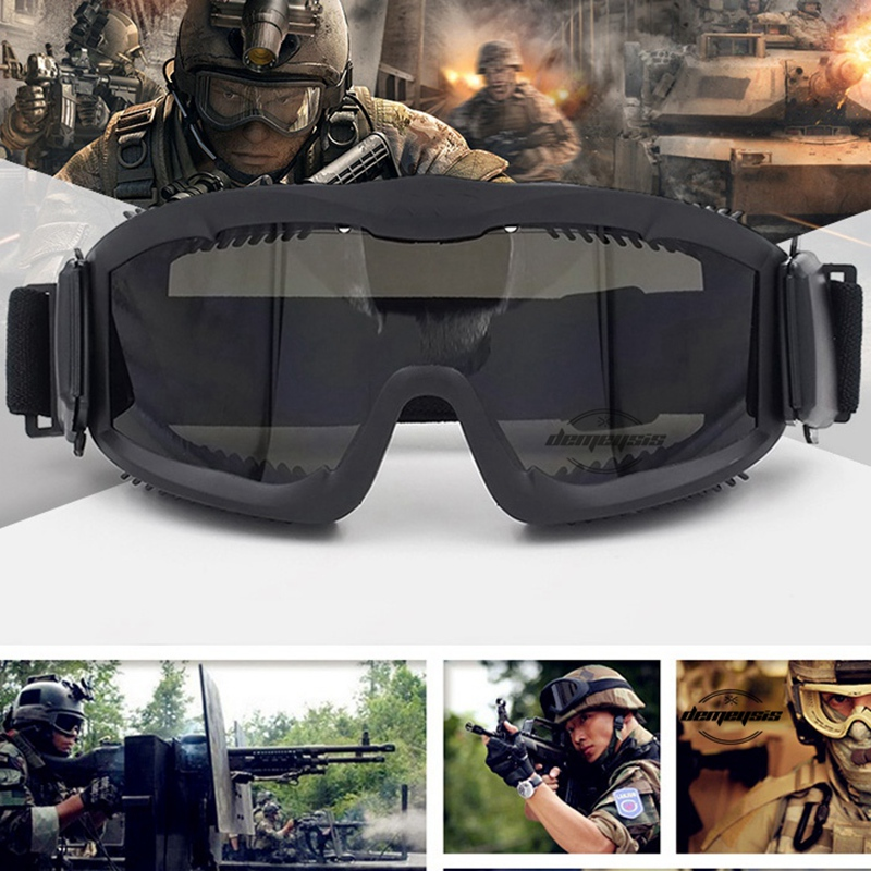 Brand Quality USMC Military Airsoft Tactical Goggles Shooting Glasses for Men 3 Lens Motorcycle Windproof Wargame