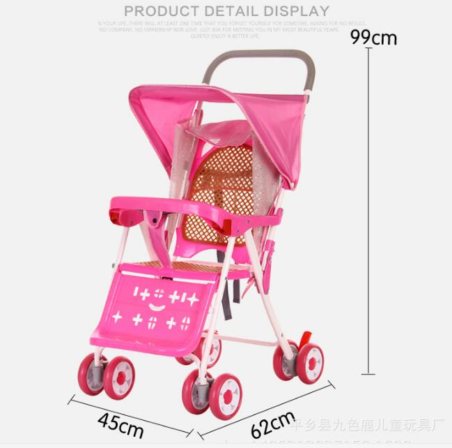 2017 vente chaude Cool été bébé chariot parapluie voiture enfants Ultra-léger pliant peut se coucher chariot - 3
