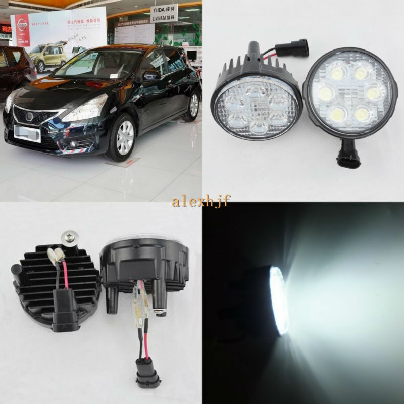 July King 18W 6LEDs H11 LED Fog Lamp Assembly Case for Nissan Tiida 2005~2015, 6500K 1260LM LED Daytime Running Lights patriot gp 6510