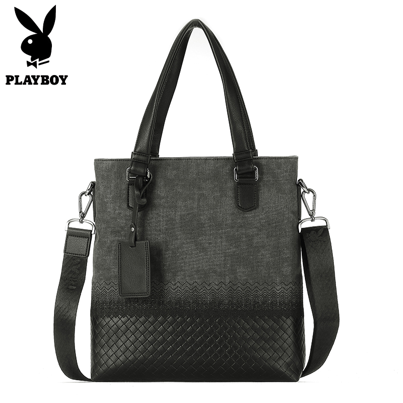 Playboy Leather Men Shoulder&Handbags Business Tote Crossbody Bags Men's Briefcase Laptop Bag Messenger Bag Men's Shoulder Bag mva business men briefcase handbags leather laptop bag men messenger bags genuine leather men bag male shoulder bags casual tote