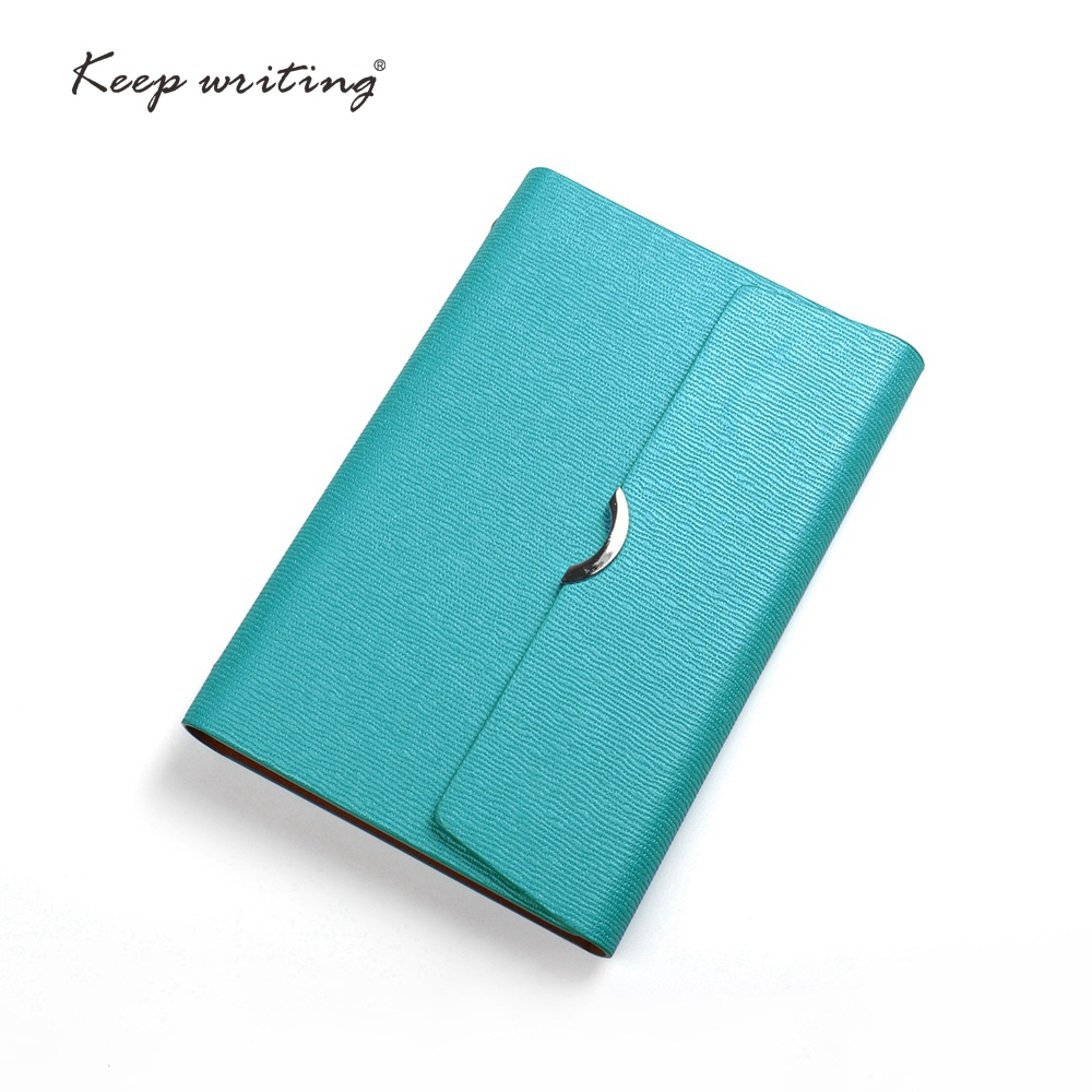A6 Organizer notebooks and journals Diary lined pages Quality paper agenda spiral book Stationery PU Leather cover small binder
