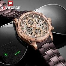 Relogio Masculino NAVIFORCE pour hommes, montre bracelet de Sport de luxe, étanche, entièrement en acier, à Quartz, modèle 9149