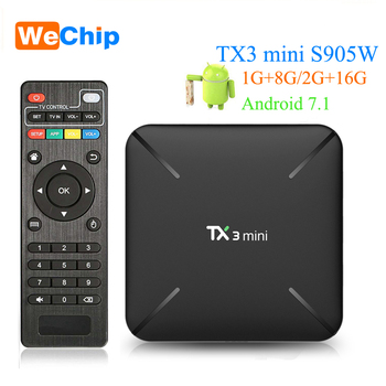 TX3 mini Android 7.1 Smart TV BOX 2GB 16GB Amlogic S905W Quad Core Set top box H.265 4K WiFi Media player TX3mini 1GB 8GB PK X96