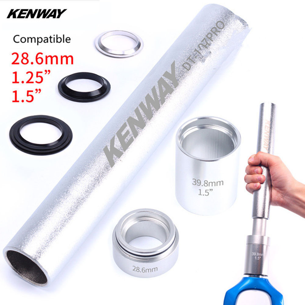 Bike Fork Base Installation Tool Dead Flying Steel Mountain Bicycle Headset Bottom Washer Setting Tool for 28.6 1.5 1.25 Fork d09 aluminum alloy bicycle cnc front fork washer blue white 28 6mm