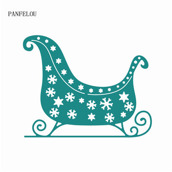 PANFELOU Metal craft The sled paper die cutting dies for Scrapbooking/DIY Easter wedding cards Hand account image
