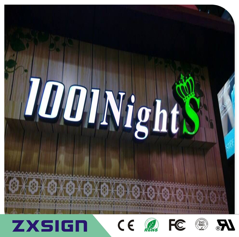 Factory Outlet Outdoor Waterproof High Birghtness Acrylic Front Stainless Steel Sides Led Light Up Letters Shop Sign