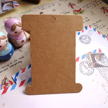 50pcs Retro Big Size Thickening Kraft Cardboard Blank Bobbine DIY Craft Paper Card Spool Gift Tag 8x10.3cm(China)