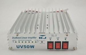 Baojie 50 Вт двухдиапазонный линейный усилитель мощности BJ-UV50W для двойного двухстороннего радиолюбительского радиоприемопередатчика