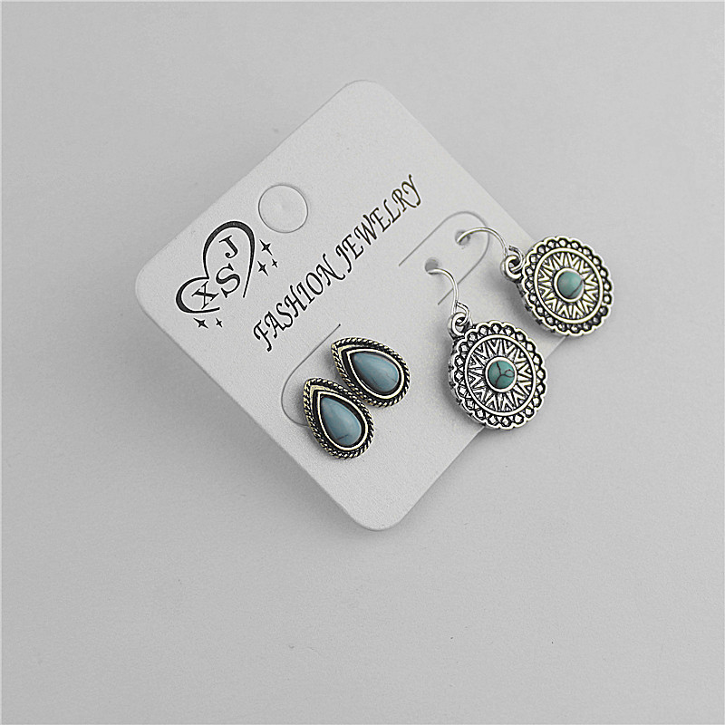 Hot sales of the new fashionable womens jewelry girl birthday party beautiful 2 pairs/set earring gift agent shipping