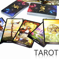 Baralho de tarô místico 78 cartas-leia seu destino, sonhos, cartas de tarô futuro