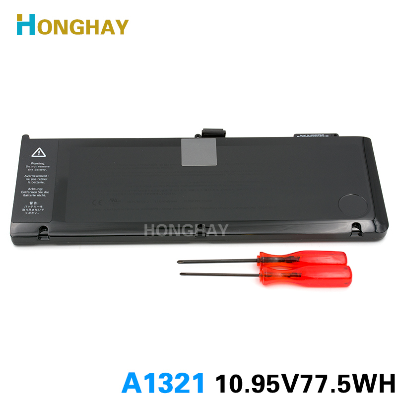 HONGHAY New 10.95V-77.5Wh A1321 Battery For Macbook Pro 15