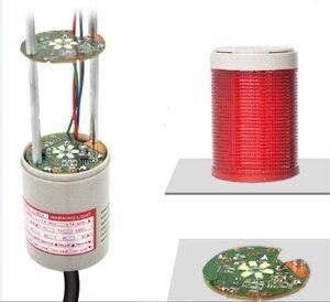 Image 3 - LTA 505J 3 RYG 3 צבעים LED מגדל אור DC12V/24 V/AC110V/220 V מוצרים מחוון אורות עם עגול תחתון 90dB צליל זמזם