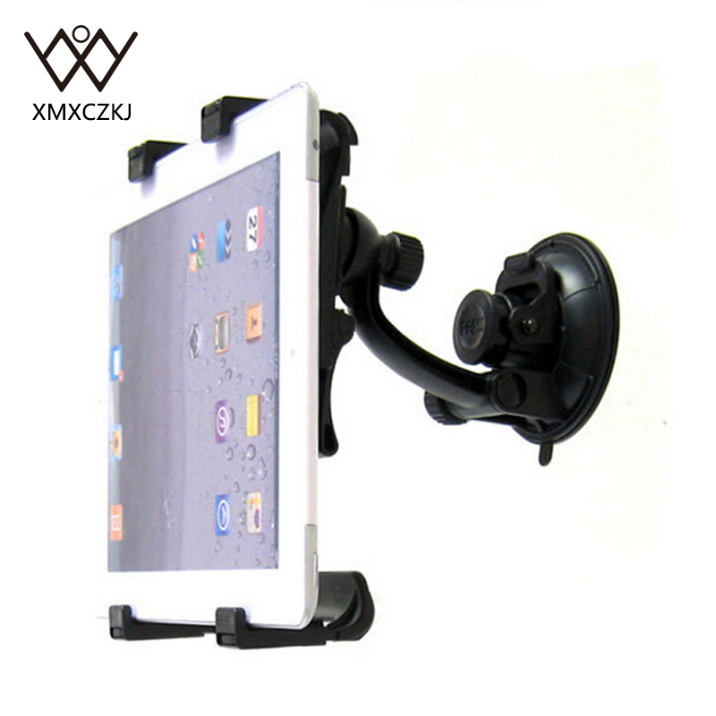 XMXCZKJ Fashion Adjustable Suction Cup Car Mount Tablet Holder Cradle Bracket Stand For Samsung Tablet GPS DVD Holder