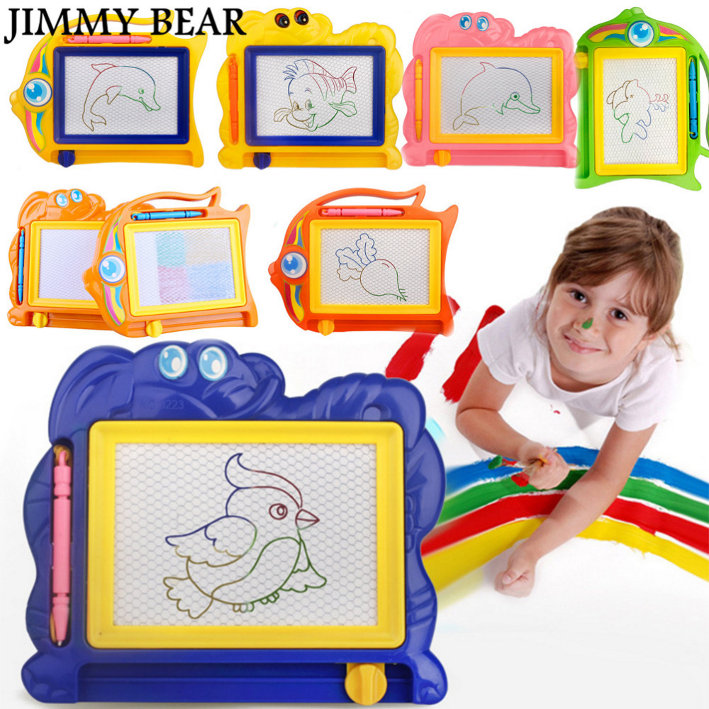JIMMY BEAR 2 Pcs/Set Magnetic Drawing Board Sketch Pad Doodle Writing Craft Art for Children Kids ...