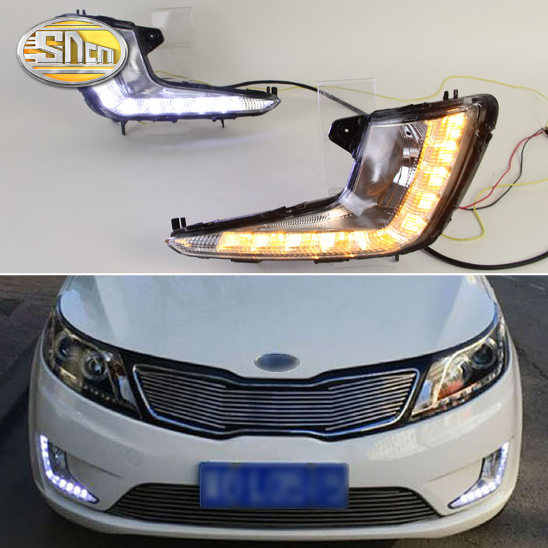 For KIA K2 Rio 2011 2012 2013 2014 Daytime Running Lights Waterproof 12V LED Car light DRL fog lamp image
