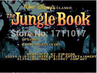 The Jungle Book 16 bit MD Game Card For Sega Mega Drive For Genesis ...
