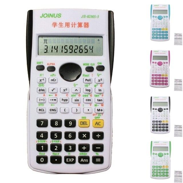 New 12 Digital Electronic Scientific Calculator 240 Multi-function  Calculator Cientifica 2 Line LCD Display Student
