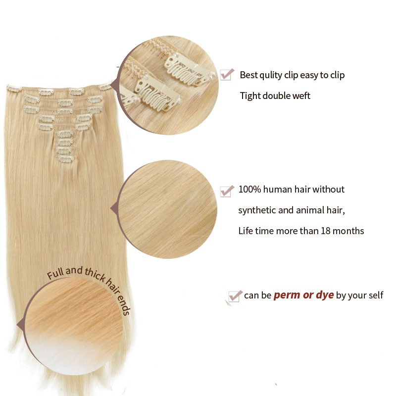 human-hair-clip-ins-100g-613-blonde-Brazilian-hair-clip-in-extensions-african-american-clip-in (2)