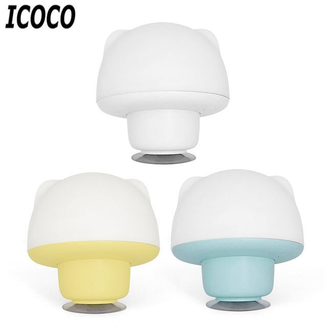 ICOCO Colorful Silicone Sucker Lamp LED Night Light Rechargeable Touch  Sensor Kids Cute Adjustable Bedroom Light