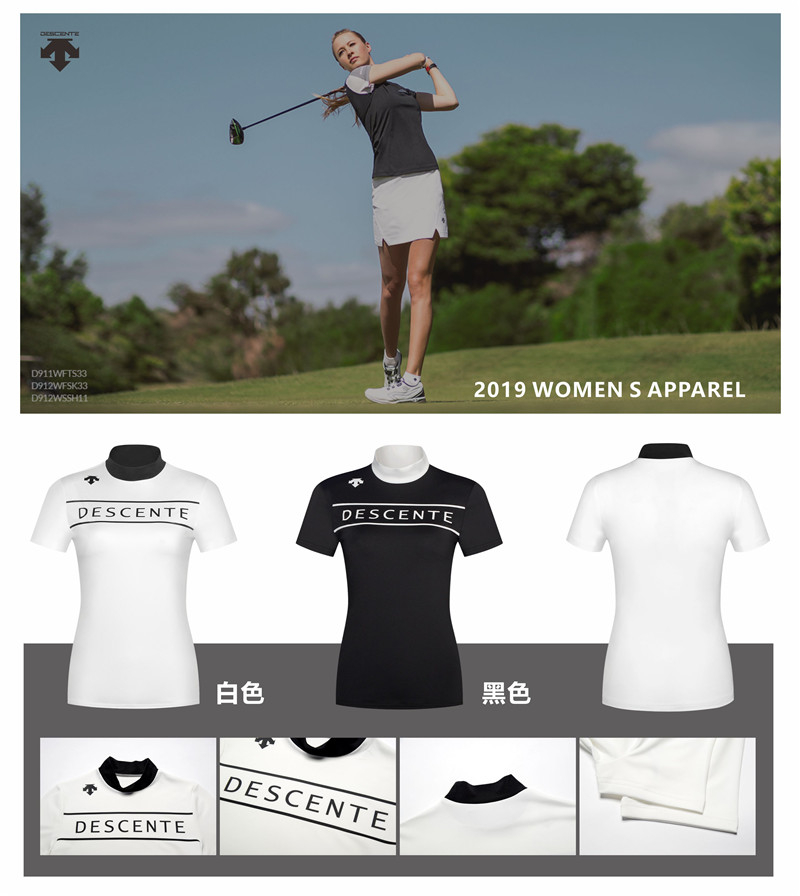 Women DESCENTE golf T-shirt new Summer Short sleeve T shirt 2 colors Golf clothes Sportswear S-XXL brand Golf slim JerseyWomen DESCENTE golf T-shirt new Summer Short sleeve T shirt 2 colors Golf clothes Sportswear S-XXL brand Golf slim Jersey