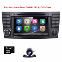 Wholesale! car radio DVD for Mercedes E G class W211 W464 CLS GPS NAVI with Radio 2 din for W211 E class 2002 2008 3G CANBUS CAM