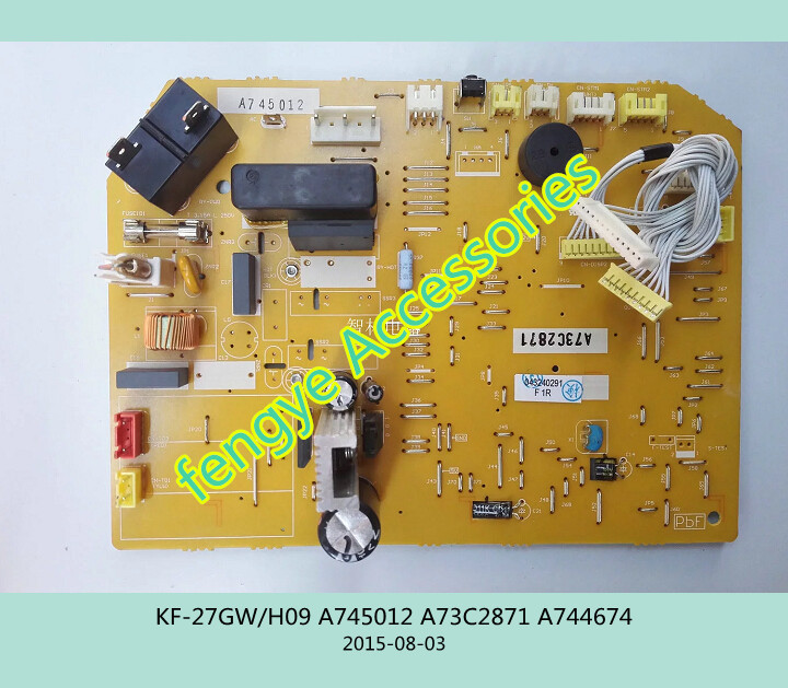 ФОТО 95% new good working for air conditioning computer board KF-27GW/H09 A745012 A73C2871 A744674 PC control board on sale