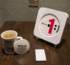 Image 5 - QPLOVE EStgoSZ مشغل أقراص مضغوطة قابلة للتركيب على الحائط بلوتوث المحمولة الرئيسية صندوق الصوت مع جهاز التحكم عن بعد راديو FM المدمج في مكبر هاي فاي MP3