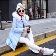 2016 Polyester Solid New Rushed Cotton Womens Winter Jackets And Coats Women Autumn Long Section Padded Hooded Jacket Basic