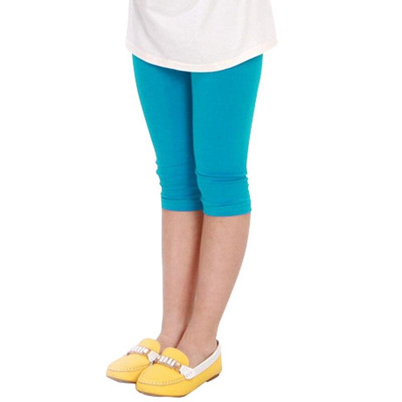 Warnen Neue Top Mode Baby Baumwolle Solide Leggings Kinder Mädchen Süßigkeiten Farbe Gestellte Capris Hosen 2-7y ZuverläSsige Leistung