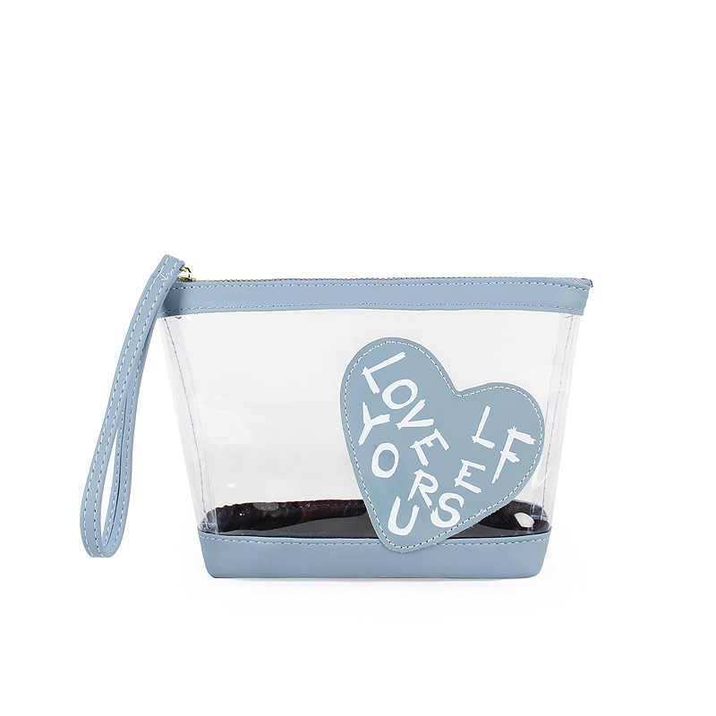 Kandra Fashion Transpa Cosmetic Bag For Women Pvc Capacity See Through Makeup Bags Clear Organizer Zippered Pouch Clutch