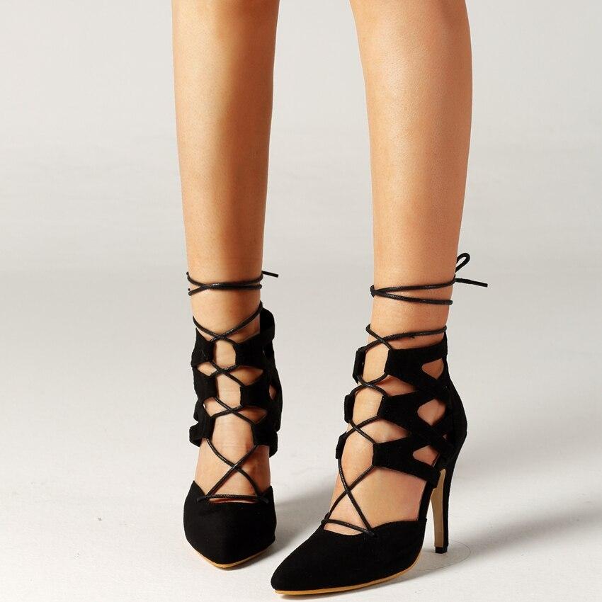 Luoma Grande Femme Hauts Talons Taille Beige Dames Pour Suede Pompe Femmes luoma Black Sandales Sandale Cuir Pantoufle En Faux Chaussures Robe Cm 11 À 8xOUww