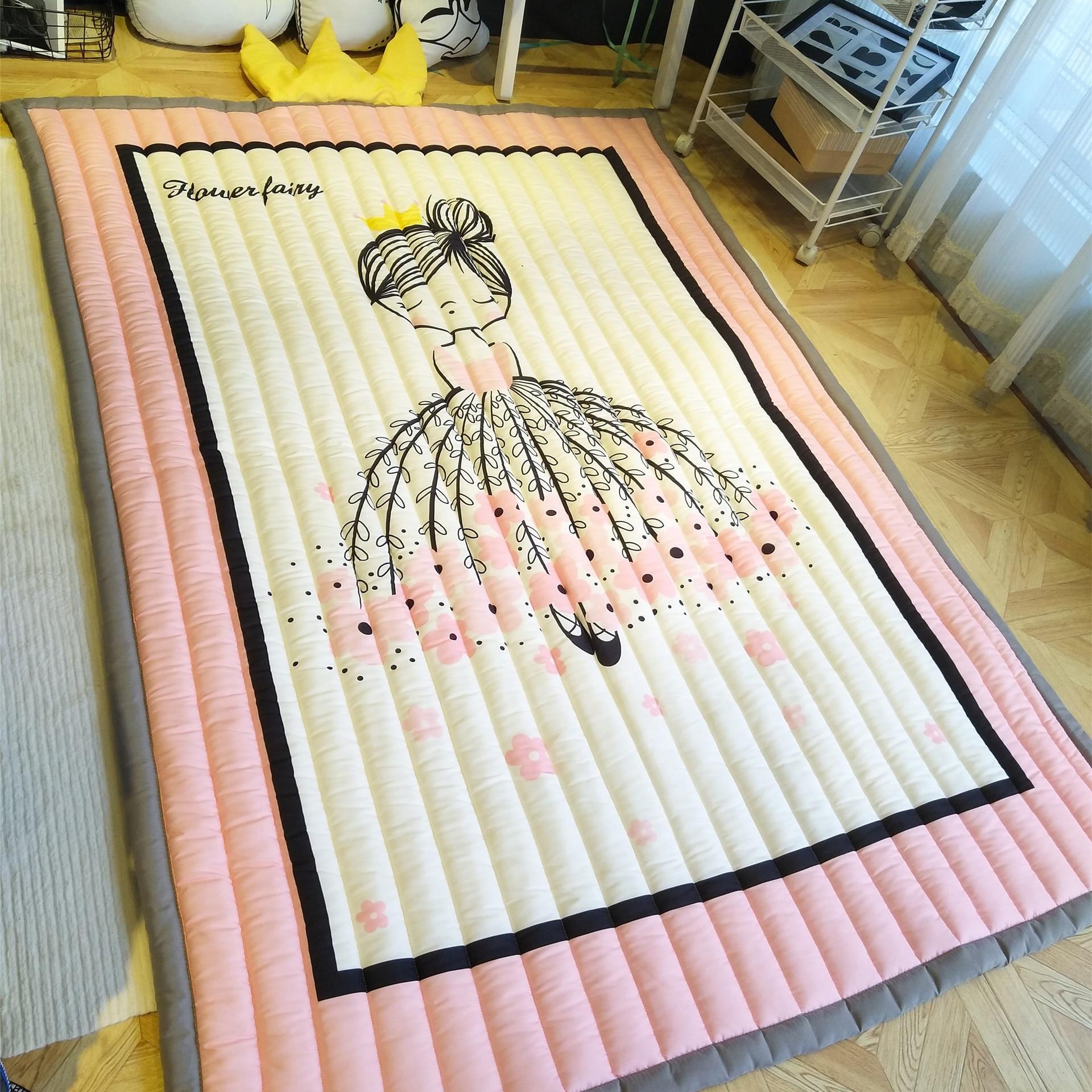 Dessin animé enfant tapis tapis jeu tapis de sol rose mignon japonais Tatami tapis enfants chambre tapis fille enfant cadeau de noël