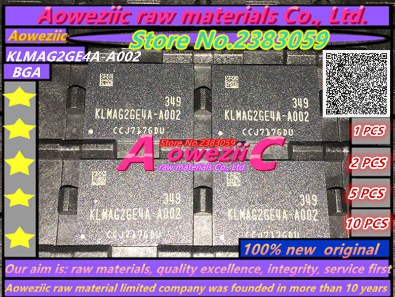 Aoweziic (1PCS) (2PCS) (5PCS) (10PCS) 100% New original KLMAG2GE4A-A002 EMMC font 16GB BGA KLMAG2GE4A A002