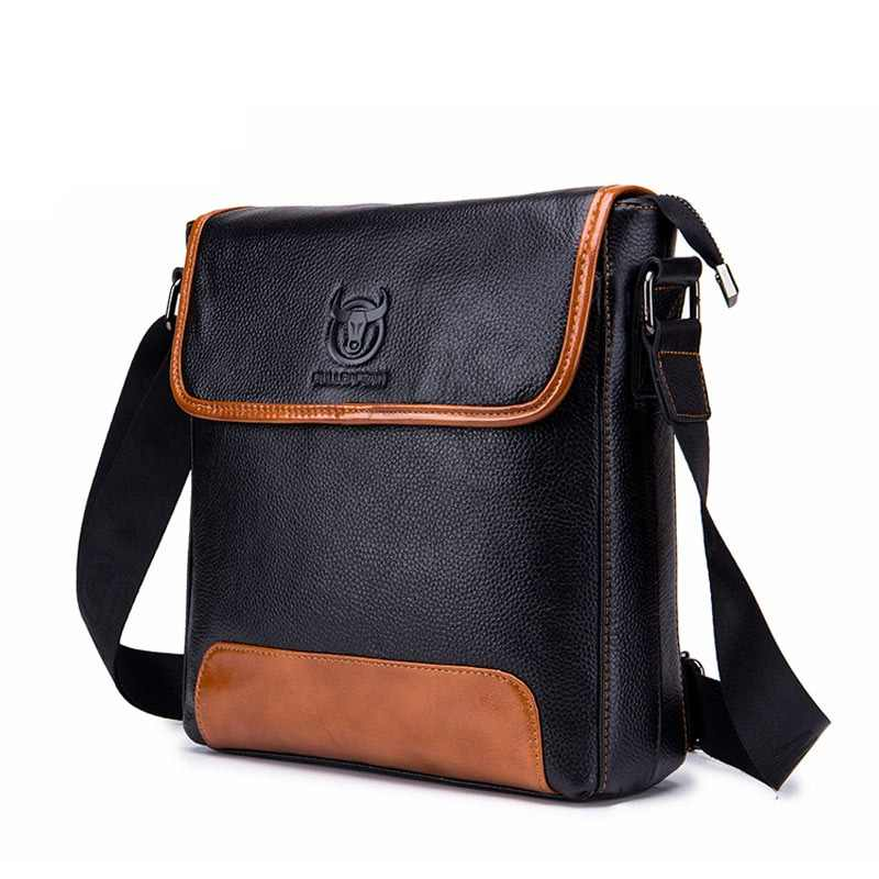 ef2240b5be31 BULLCAPTAIN Men Shoulder Bag Classic Brand Male Leather Bag Vintage Style  Casual Men Messenger Bags Promotion