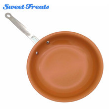 Sweettreats Non stick Copper Frying Pan with Ceramic Coating and Induction Cooking Oven Dishwasher safe 10