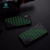 NILLKIN ночник звезда серии телефон чехол для iPhone X Искусственная кожа задняя крышка для iphone х чехол тонкий бампер Fundas 5.8 дюймов