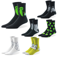 Harajuku New Arrival Casual Cartoon Hip Hop Cat Cotton Men Socks Creative Alien