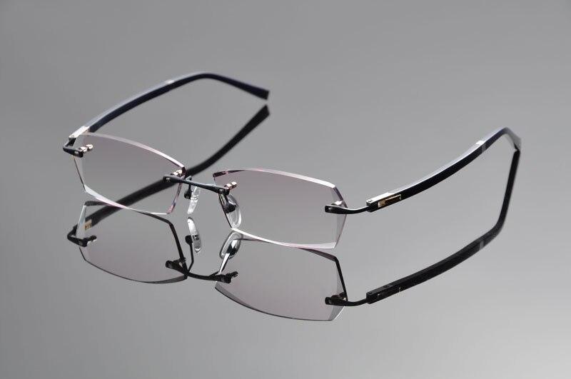 De Ding Rimless Titanium Eyeglasses