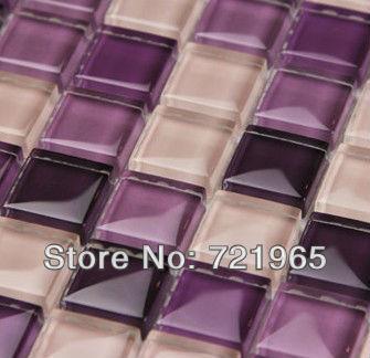 Crystal Gl Mosaic Tiles Decor Mesh Interior Wall Backsplash Cgmt022 Purple