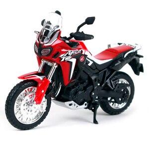 Image 2 - 1:18 skala Maisto Honda CRF1000L afryka Twin DCT 2016 Sport Diecast Off motocykl szosoway Model zabawkowy prezenty dla dzieci