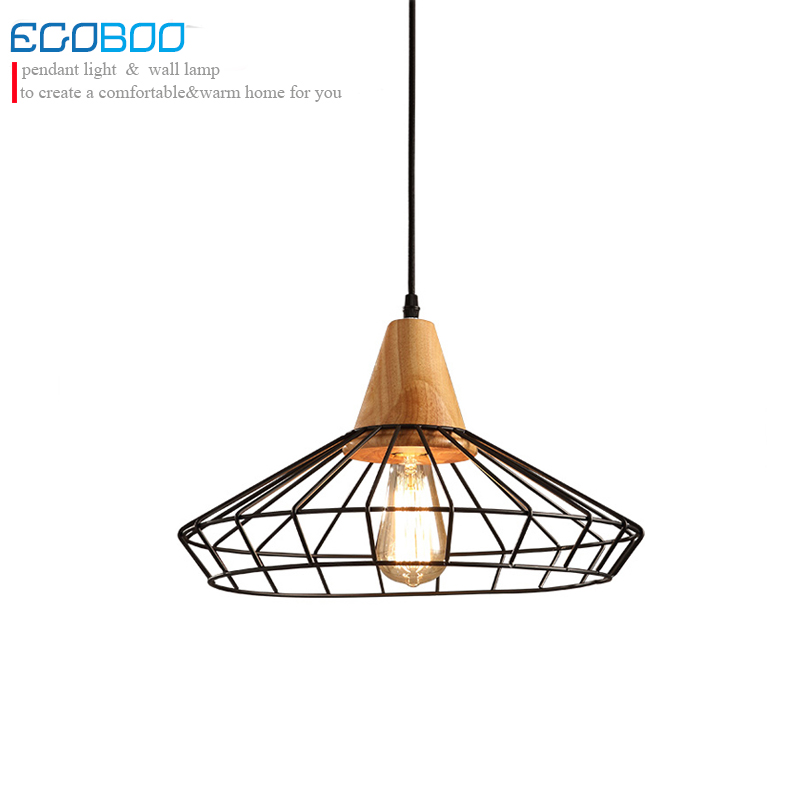 The New Style Nordic simple creative wood  Iron Chandelier corridor balcony room lighting / E27 bulb 100-240V AC