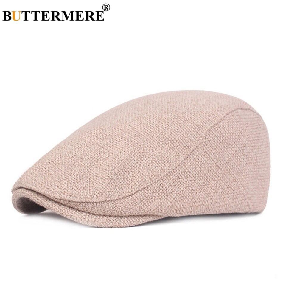 BUTTERMERE Beret-Hat Duckbill-Hat Flat-Caps Linen Classic Adjustable Cotton Women Summer