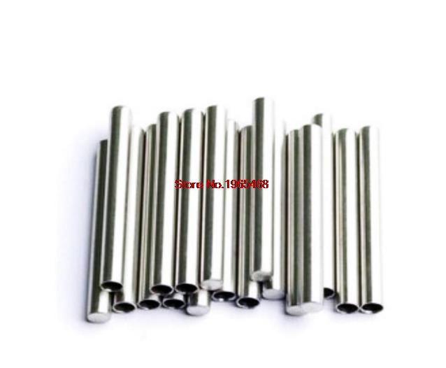 Stainless Steel Round Tube Case 6*50mm For PT100 DS18B20 Temperature Sensor UE
